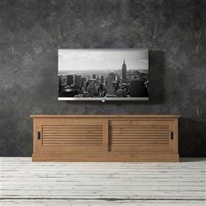 Urban Woodcraft Santorini TV Stand - 75-in - Antique Pine