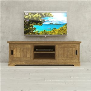 Urban Woodcraft Algonquin TV Stand - 68.5-in - Natural Asian Hardwood