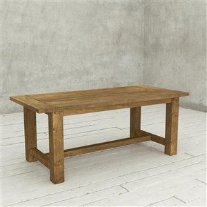Urban Woodcraft Houston Rectangular Fixed Dining Table - 78-in - Natural Teak