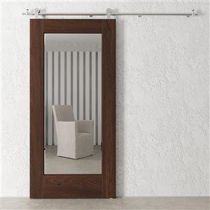 Urban Woodcraft Stillwater Prefinished MDF Single Barn Door - 40-in x 83-in - Espresso