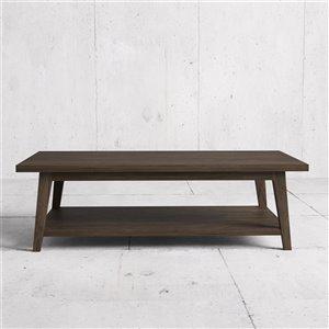Urban Woodcraft Citation Rectangular Coffe Table - 51-in - Salvaged Espresso