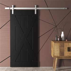 Urban Woodcraft Elements Prefinished MDF Single Barn Door - 40-in x 83-in - Espresso