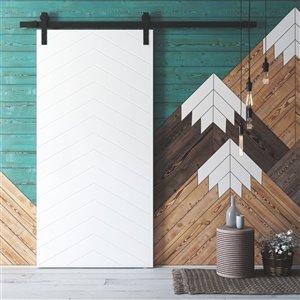 Urban Woodcraft Oklahoma Prefinished MDF Single Barn Door - 40-in x 83-in - White