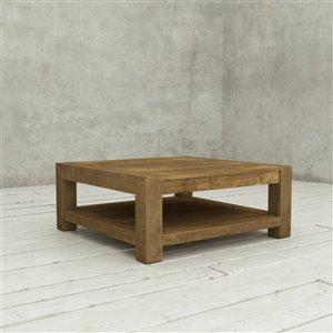 Urban Woodcraft Helsinki Square Coffe Table - 43-in - Natural Teak