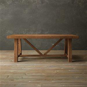 Urban Woodcraft Aberdeen Rectangular Fixed Dining Table - 78-in - Antique Pine