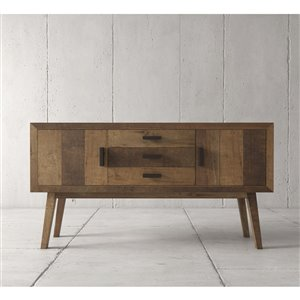 Urban Woodcraft Citation Buffet - 60-in - Asian Hardwood - Multi-coloured Teak