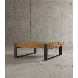 Urban Woodcraft Halifax Square Coffe Table - 40-in - Natural Teak