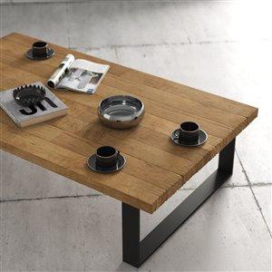 Urban Woodcraft Sonora Rectangular Coffe Table - 54.75-in - Natural Teak