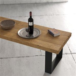 Urban Woodcraft Sonora Rectangular Coffe Table - 55.25-in - Natural Teak
