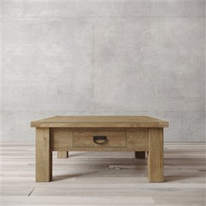 Urban Woodcraft Richmond Square Coffe Table - 39.75-in - Natural Teak