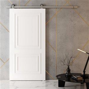 Urban Woodcraft Alton Prefinished MDF Single Barn Door - 40-in x 83-in - White