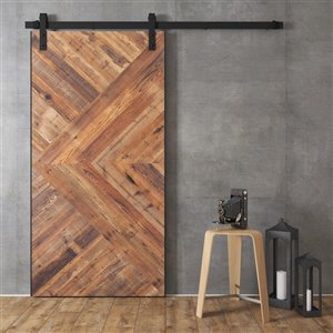 Urban Woodcraft Moncton Prefinished MDF Single Barn Door - 36-in x 96-in - White
