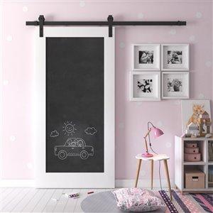 Urban Woodcraft Chalkboard Prefinished MDF Single Barn Door - 40-in x 83-in - White