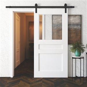 Urban Woodcraft Baker's Pantry Prefinished MDF Single Barn Door - 40-in x 83-in - White