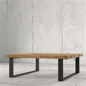 Urban Woodcraft Sonora Square Coffe Table - 39.25-in - Natural Teak