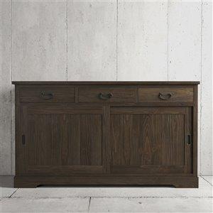 Urban Woodcraft Richmond Buffet - 65.5-in - Pine - Salvaged Espresso