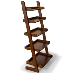 Étagère style échelle de All Things Cedar à 5 niveaux classique cerise, 55 po