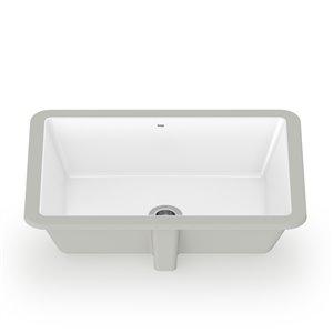 Cheviot KONRAD Undermount Bathroom Sink White 15.75-in L x 22-in W x 7-in H