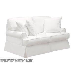 Housse pour causeuse Horizon T-Cushion de Sunset Trading, tissu performance blanc