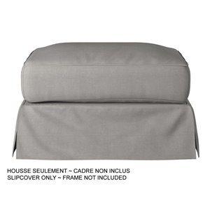 Sunset Trading Horizon Ottoman Slipcover - Performance Fabric Gray