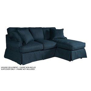 Housse pour chaise et sofa sectionnel Horizon de Sunset Trading, tissu performance bleu marin