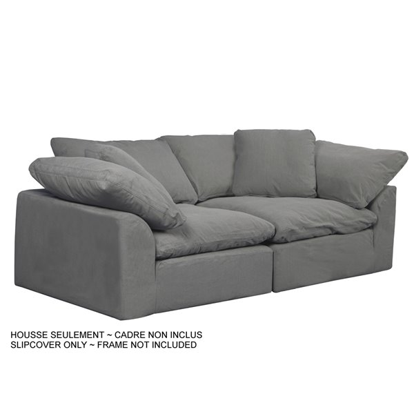 Sunset Trading Cloud Puff Slipcover, Cloud Sectional Sofa