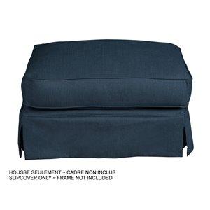 Housse pour ottoman Horizon de Sunset Trading, tissu performance bleu marin