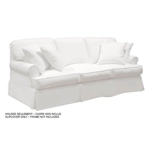 Housse pour sofa Horizon T-Cushion de Sunset Trading, blanc