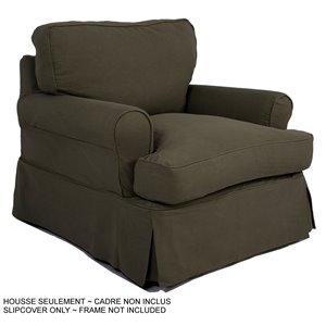 Housse pour chaise Horizon T-Cushion de Sunset Trading, vert forêt