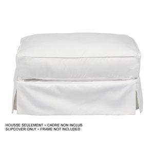 Housse pour ottoman Horizon de Sunset Trading, tissu performance blanc