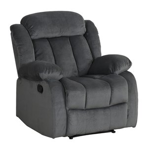 Fauteuil inclinable en microsuede Madison de Sunset Trading, gris