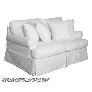 Housse pour causeuse Horizon T-Cushion de Sunset Trading, blanc cassé