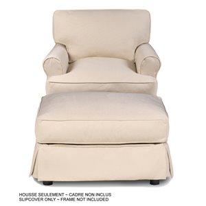 Ensemble de housse pour chaise et ottoman Horizon de Sunset Trading, tissu performance beige