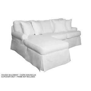 Housse pour chaise et sofa sectionnel Horizon de Sunset Trading, tissu performance blanc