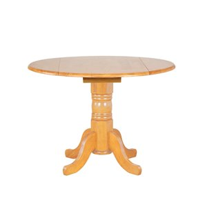 Sunset Trading Round Oak Wood Table - 42-in - Light Oak