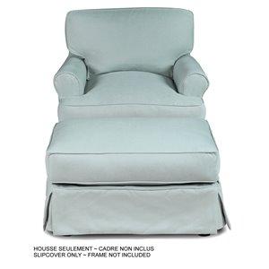 Ensemble de housse pour chaise et ottoman Horizon de Sunset Trading, tissu performance bleu océan