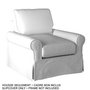 Housse pour chaise Horizon Box Cushion de Sunset Trading, blanc