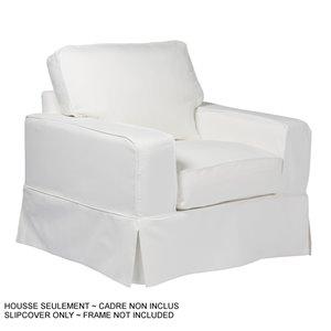 Housse pour chaise Americana Box Cushion de Sunset Trading, tissu performance blanc