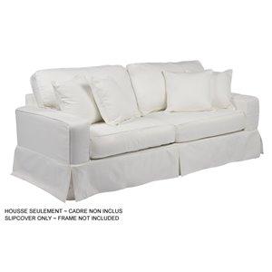 Housse pour sofa Americana Box Cushion de Sunset Trading, tissu performance blanc