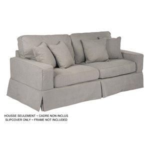 Housse pour sofa Americana Box Cushion de Sunset Trading, tissu performance gris