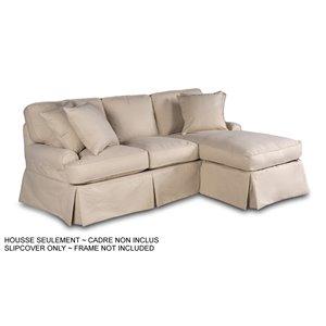 Housse pour chaise et sofa sectionnel Horizon de Sunset Trading, tissu performance beige
