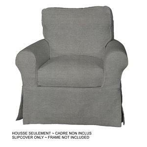 Housse pour chaise Horizon Box Cushion de Sunset Trading, gris