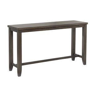 Sunset Trading Shades of Gray Rectangular Pub Table  - 65.5-in - Grey