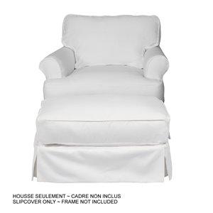 Ensemble de housse pour chaise/ottoman Horizon de Sunset Trading, tissu performance blanc