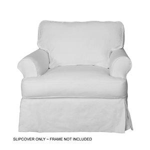 Housse pour chaise Horizon T-Cushion de Sunset Trading, tissu performance blanc