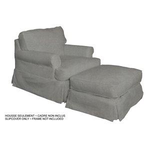 Ensemble de housse pour chaise et ottoman Horizon de Sunset Trading, tissu performance gris
