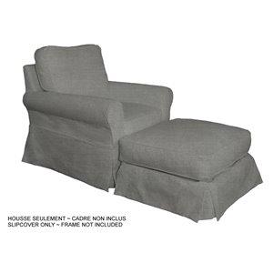 Ensemble de housse pour chaise et ottoman Horizon de Sunset Trading, gris