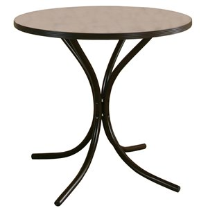 Sunset Trading Linen Dinette Table - 30-in - Black