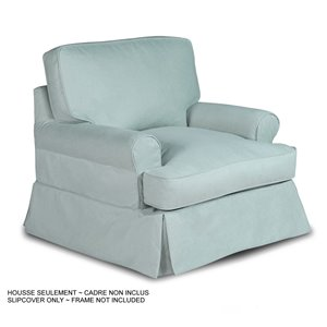 Housse pour chaise Horizon T-Cushion de Sunset Trading, tissu performance bleu océan