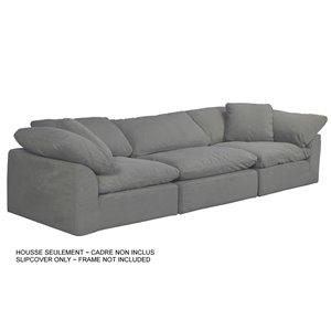 Housse pour sofa sectionnel  Cloud Puff de Sunset Trading, 3 pièces, tissu performance gris
